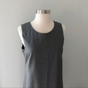 J. Crew Sleeveless Shift Dress In Stretch Wool
